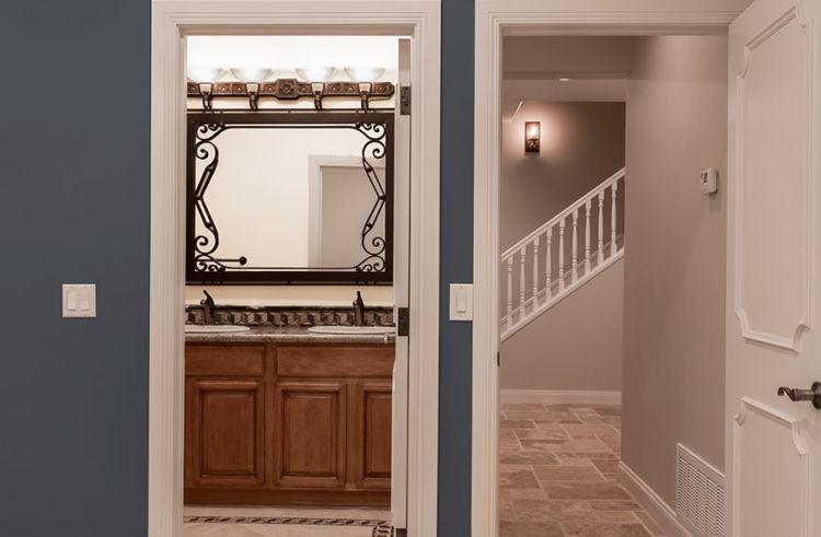 basement, bath and staircase