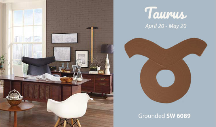 Taurus - desk and chair - brows wall