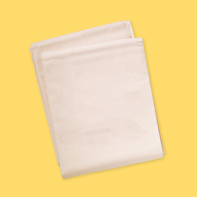 white cloth on yellow background