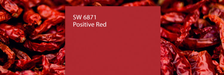 Positive red color swatch