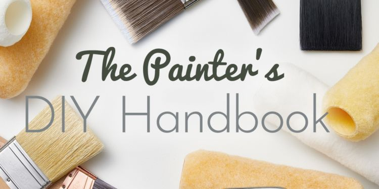 brushes and paint rolls, caption: The Painter's DIY Handbook