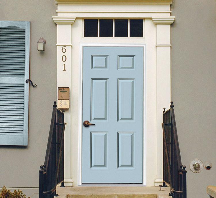 front door in light blue