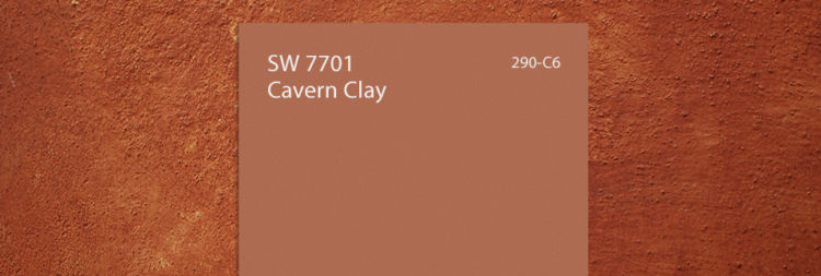 cavern clay color swatch, similar to peach color