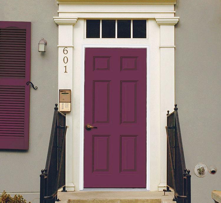 front door in grape color
