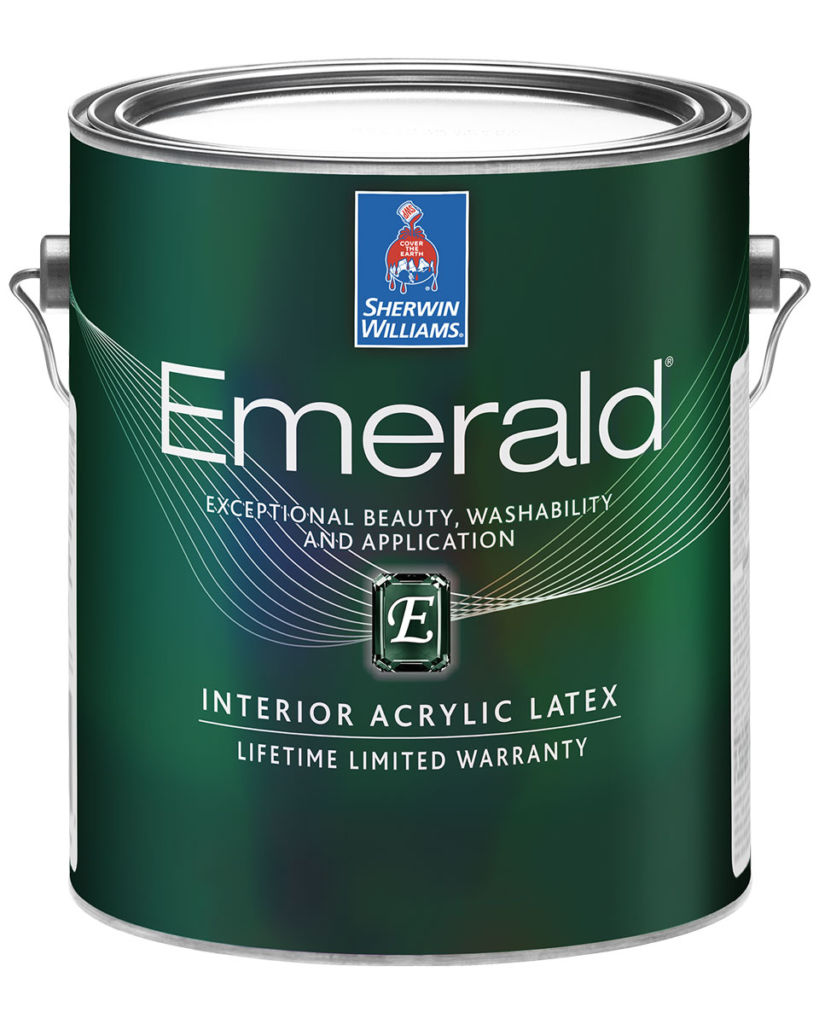 green can of emerald paint