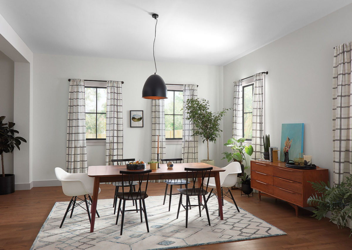 dining room, wooden table and chairs