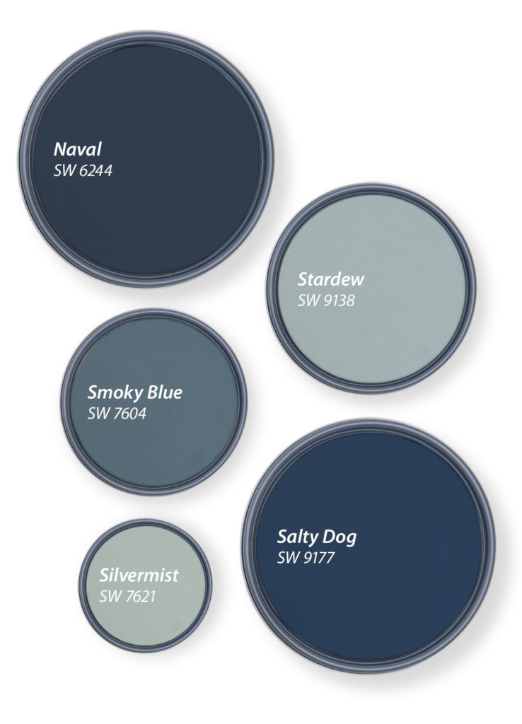 circles with shades of blue
