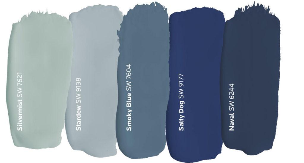 Blue Paint Dabs