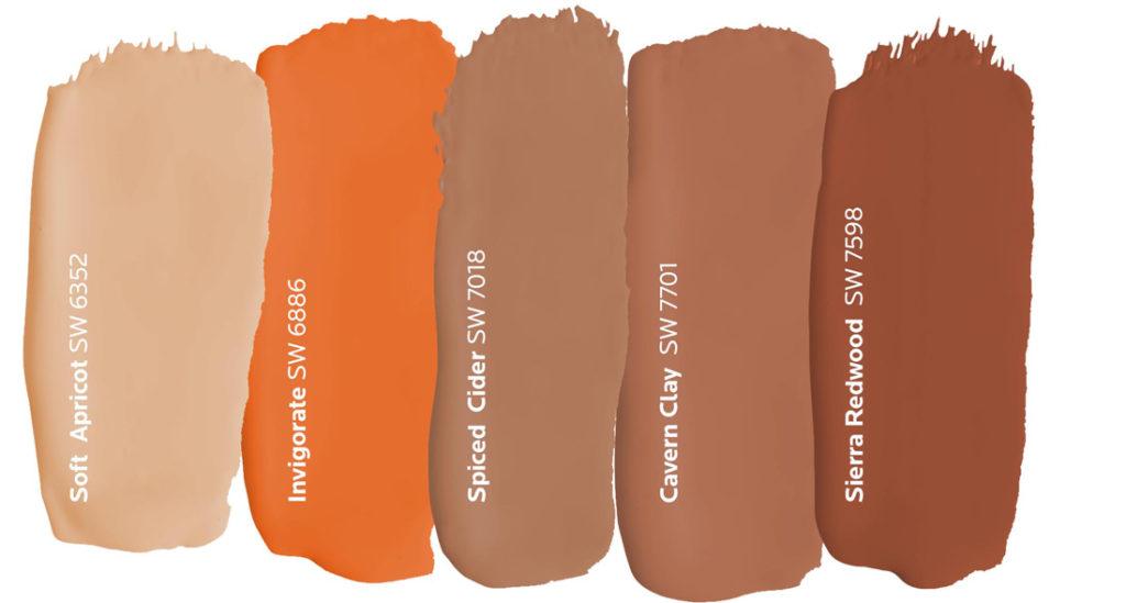 Orange Paint Dabs