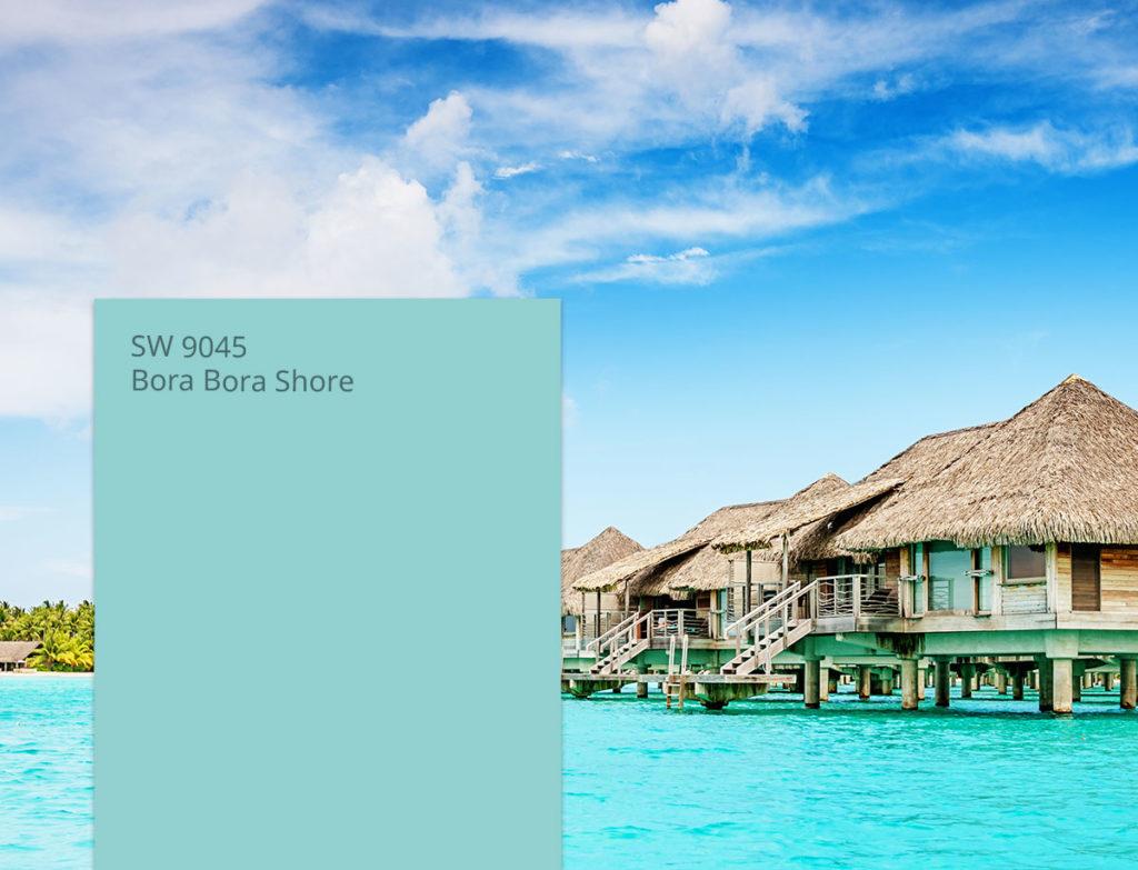 Bora Bora Shore, summer houses above the water