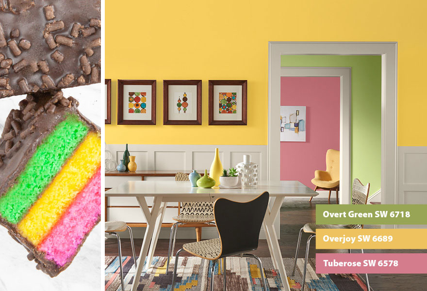 Bright colors, dining room