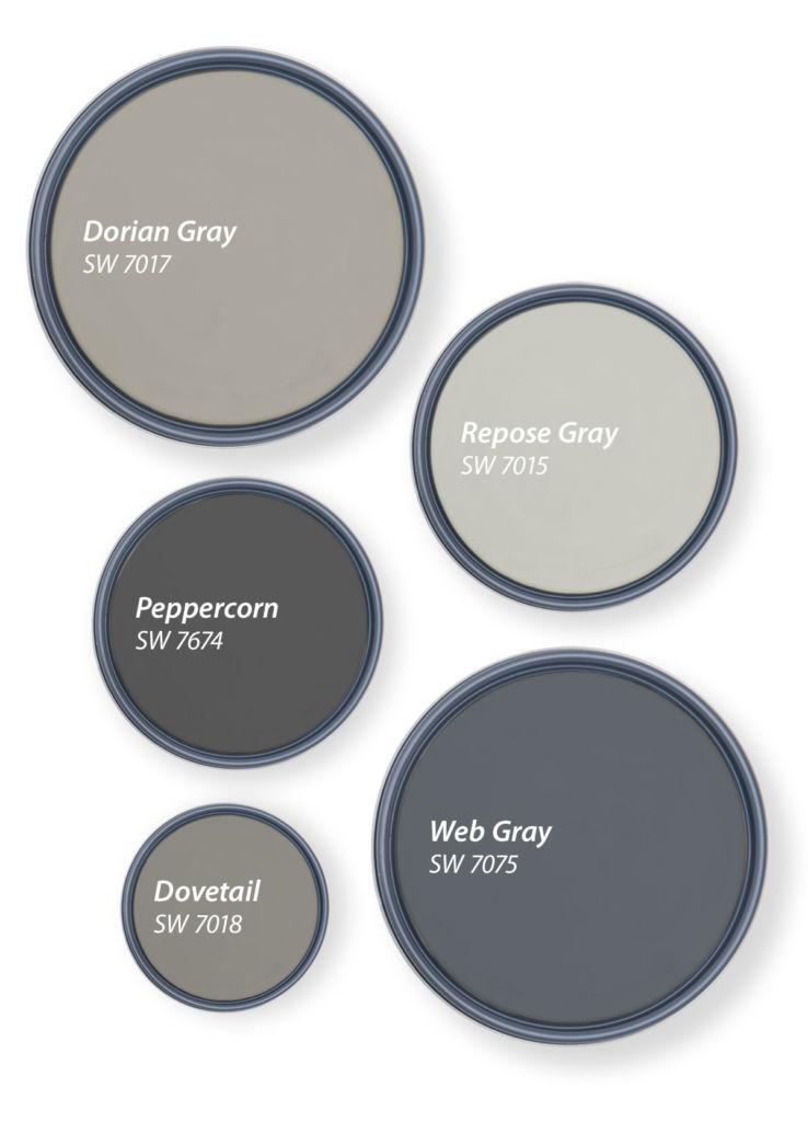 circles with shades of grey