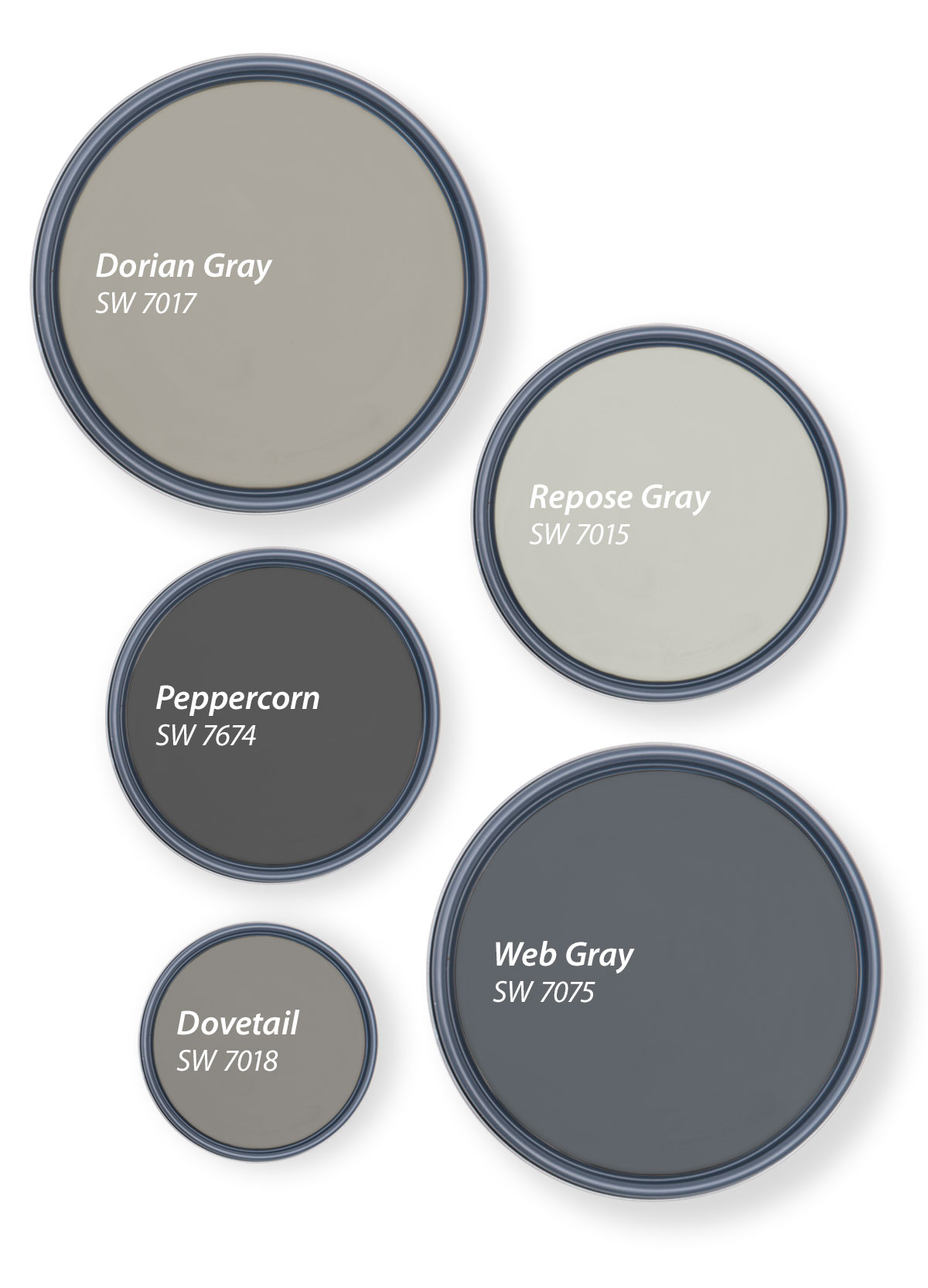 Our Top 20 Shades of Gray   Tinted by Sherwin Williams