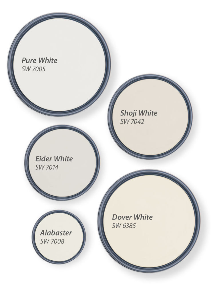circles with shades of white inners
