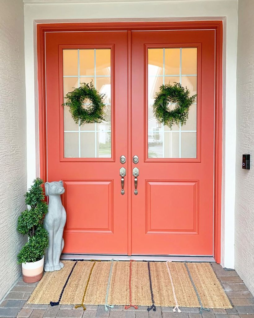 door paint colors, Quite Coral