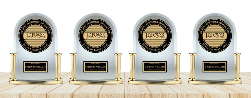Four 2020 J.D. Power Award Trophies