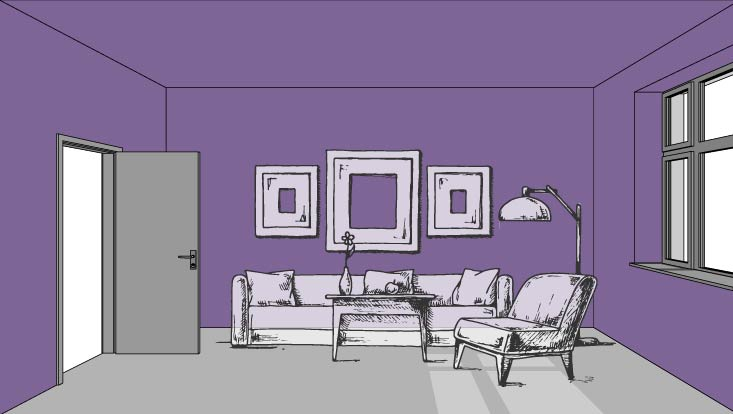 Color and Perspective: Cozy your space