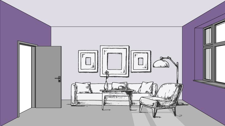Color and Perspective: Narrow your space