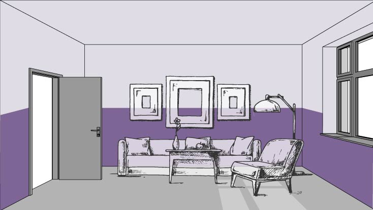 Color and Perspective: Shorten your walls