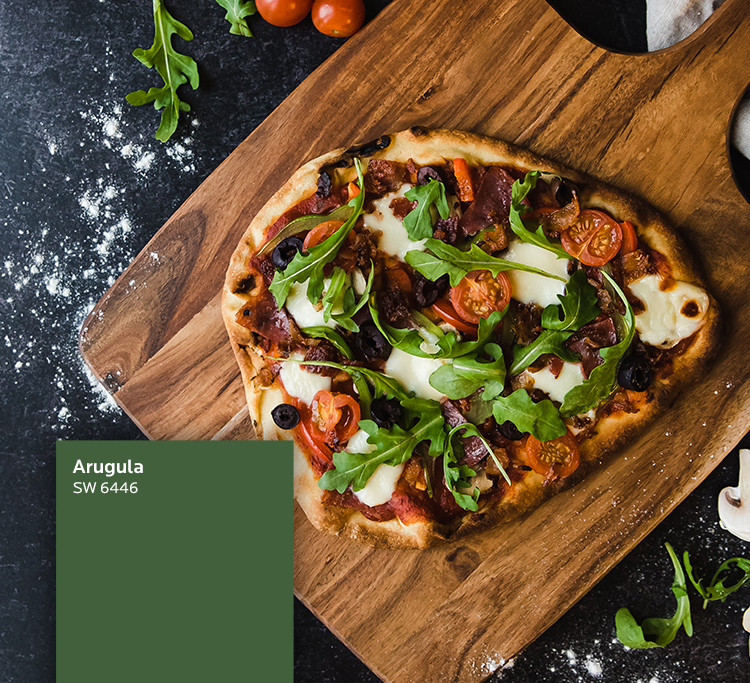 A flatbread pizza inspired by Arugula SW 6446