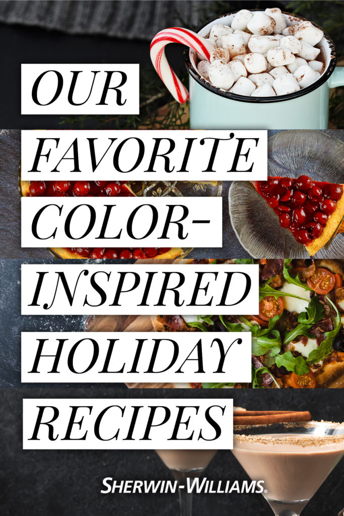 our favorite color-inspired holiday recipes by Sherwin-Williams