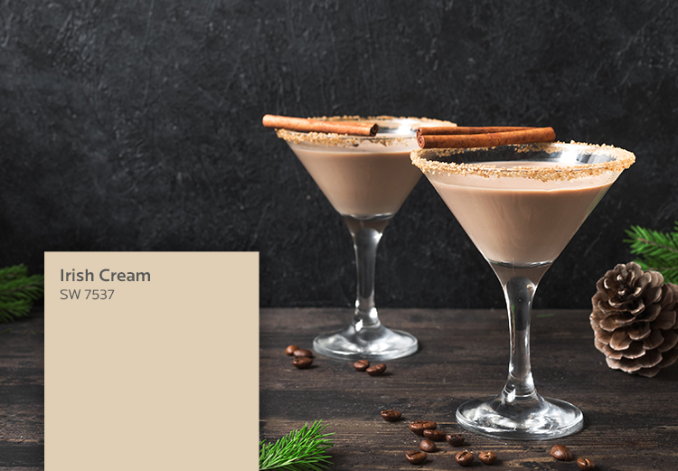 two glasses of Irish Cream inspired by Irish Cream SW 7537