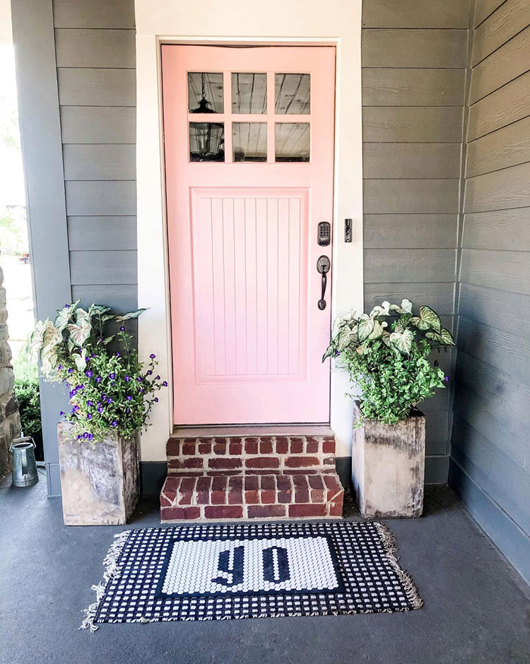 Front door painted Loveable SW 6590.