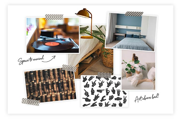 Inspiration images for mood board.