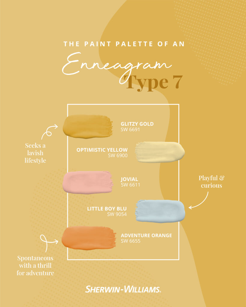 Enneagram Type 7 paint palette.
