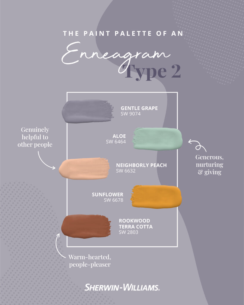 Enneagram Type 2 paint palette.