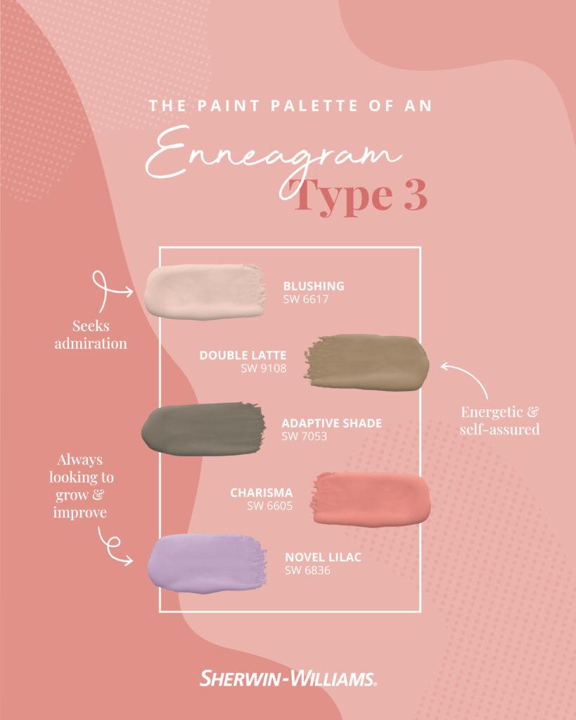 Enneagram Type 3 paint palette.