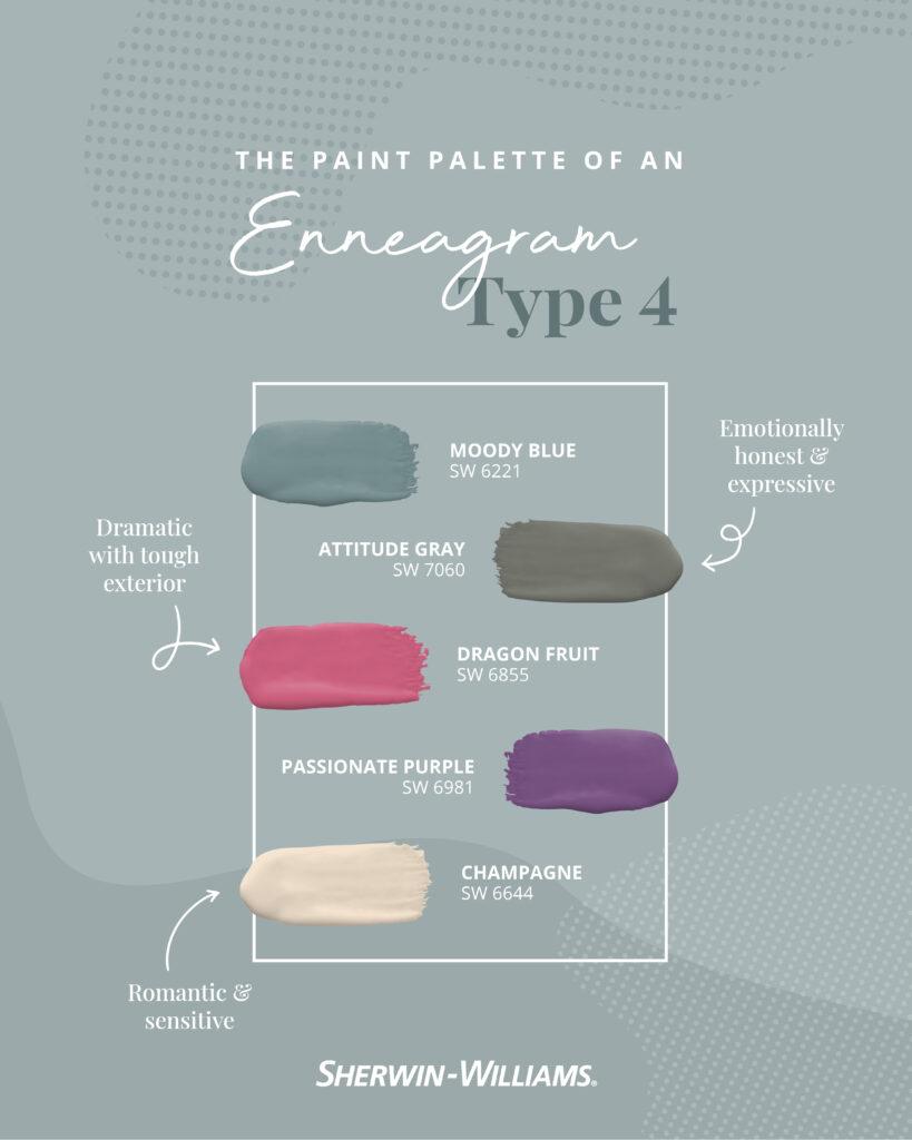 Enneagram Type 4 paint palette.